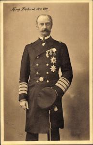 Ak König Frederik VIII von Dänemark, Portrait