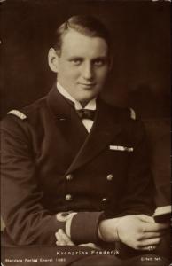 Ak Kronprinz Frederik von Dänemark, Frederik IX, Portrait