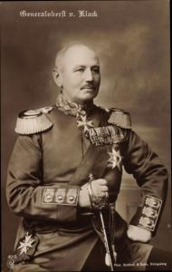 Ak Generaloberst Alexander von Kluck, Portrait in Uniform, Säbel, Orden, NPG 4915