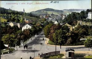 Ak Schwarzenberg im Erzgebirge Sachsen, Bahnhofstraße