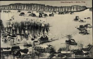Ak Oberrittersgrün Breitenbrunn im Erzgebirge, Teilansicht, Winter