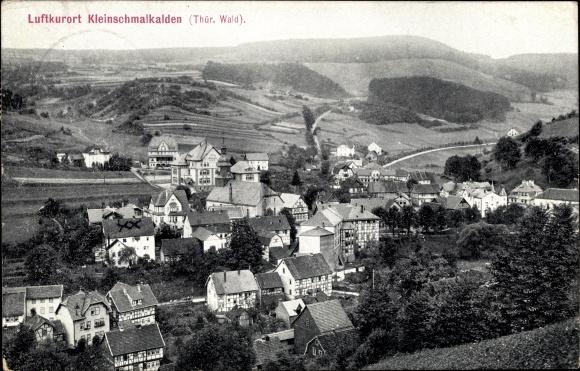 Ak Kleinschmalkalden Floh Seligenthal Thüringen, Panorama vom Ort 0
