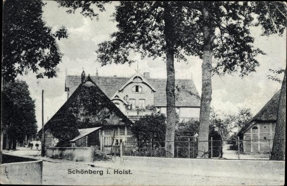 Ak Schönberg in Holstein, Straßenpartie 0
