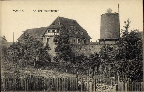 Ak Vacha Thüringen, An der Stadtmauer 0