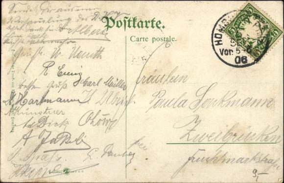 Ak Hamburg Mitte Altstadt, 9. Verbandstag des DHB 1905, Gruppenbild im Prunksaal 1