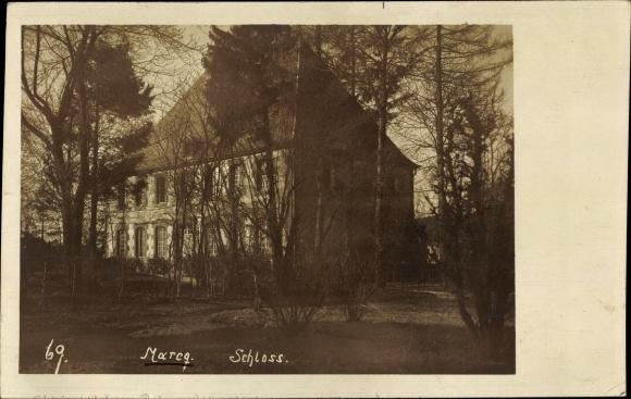 Foto Ak Marcq Ardennes, Schloss 0