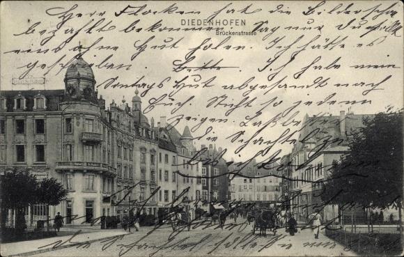 Ak Thionville Diedenhofen Lothringen Moselle, Brückenstraße 0