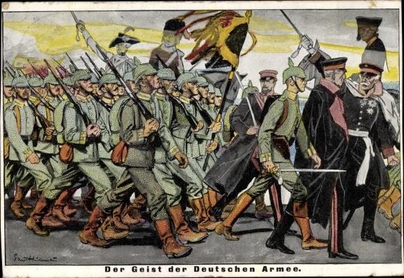 Künstler Ak Der Geist der Deutschen Armee, 1914, Friedrich der Große 0