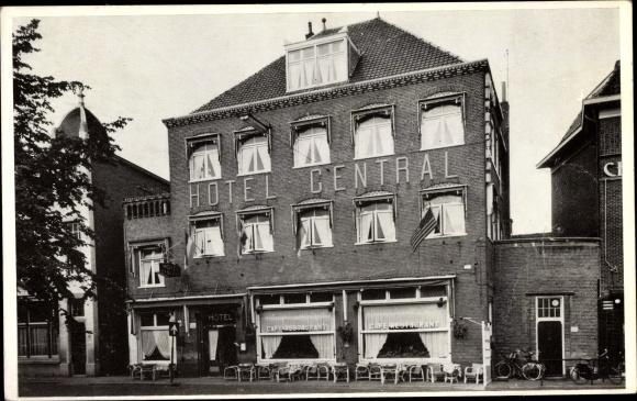Ak Apeldoorn Gelderland, Hotel Central 0