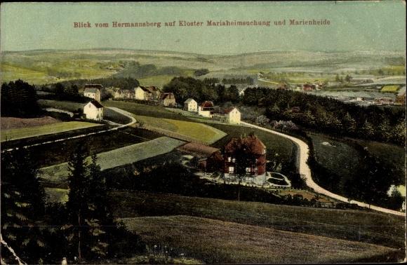 Ak Marienheide Oberbergischer Kreis, Blick vom Hermannsberg auf Kloster Mariaheimsuchung 0