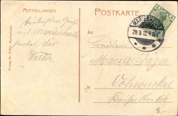 Ak Marienheide Oberbergischer Kreis, Blick vom Hermannsberg auf Kloster Mariaheimsuchung 1