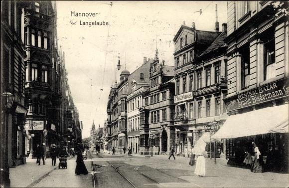 Ak Hannover in Niedersachsen, Langelaube, Central Bazar Arnold Biedermann, F. Renziehausen 0