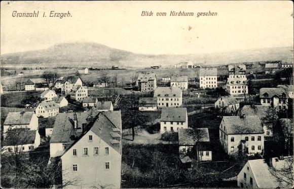 Ak Cranzahl Sehmatal im Erzgebirge, Panorama vom Kirchturm 0
