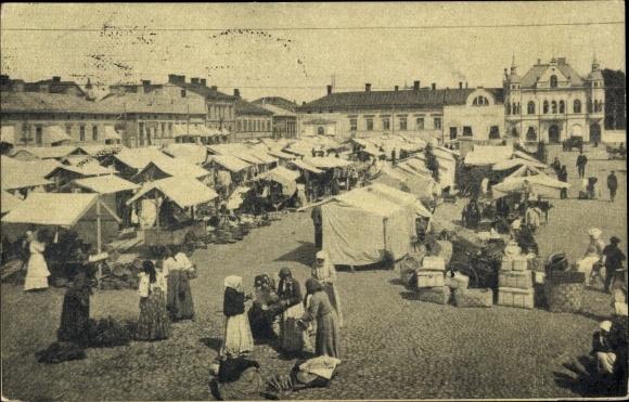 Ak Pori Björneborg Westfinnland, Markt 0
