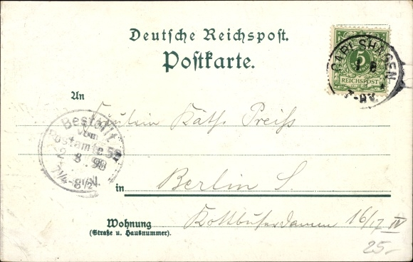 Litho Karlshagen in Mecklenburg Vorpommern, Strandhütte Mining, Villa Waldheim u. Marie, Strand 1