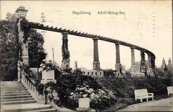 Ak Magdeburg an der Elbe, Adolf Mittag See 0