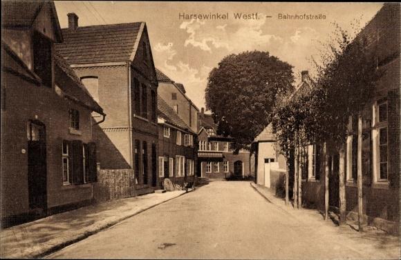 Ak Marienfeld Harsewinkel Westfalen, Bahnhofstraße 0