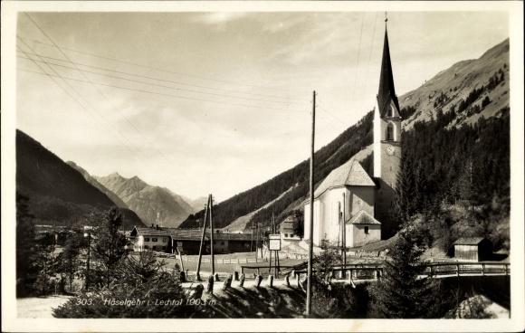 Ak Häselgehr Tirol, Ortspartie, Kirche 0