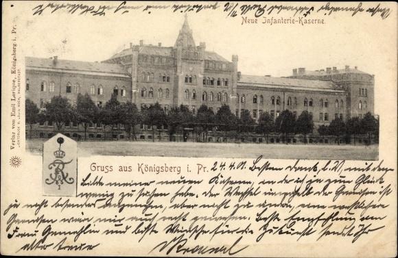 Ak Kaliningrad Königsberg Ostpreußen, Neue Infanterie Kaserne 0