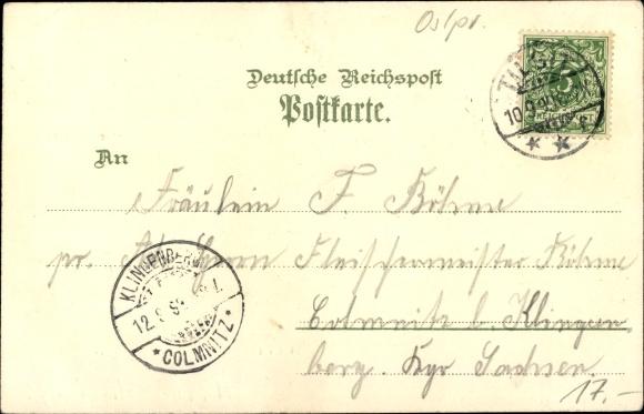 Litho Sowjetsk Tilsit Ostpreußen, Stadttheater, Schenkendorf Denkmal, Lindenstraße, Schiffbrücke 1
