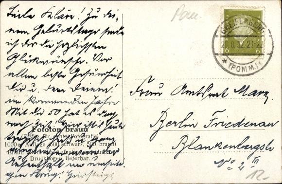 Ak Gryfice Greifenberg Pommern, Gasthaus Bergschlösschen 1