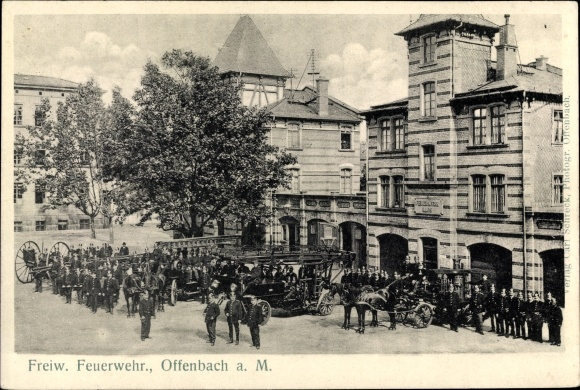 Ak Offenbach am Main Hessen, Freiw. Feuerwehr 0