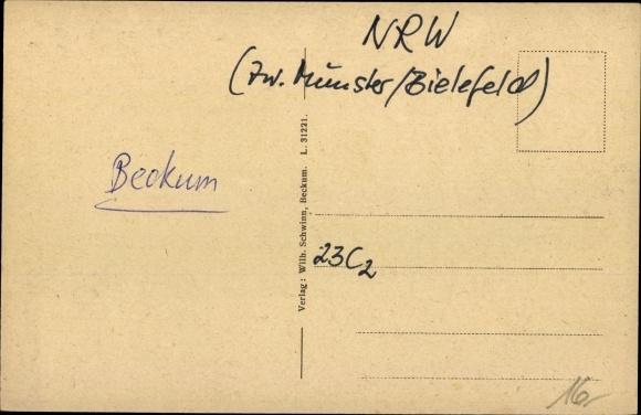 Ak Beckum in Westfalen, Nordstraße, Wilhelm Schwinn 1