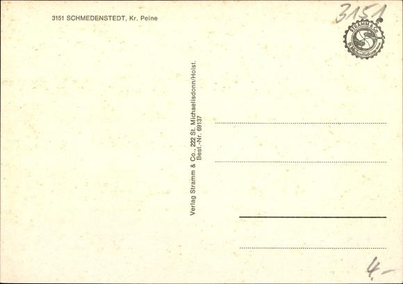 Ak Schmedenstedt Peine in Niedersachsen, Geschäft, Baum, Schule 1
