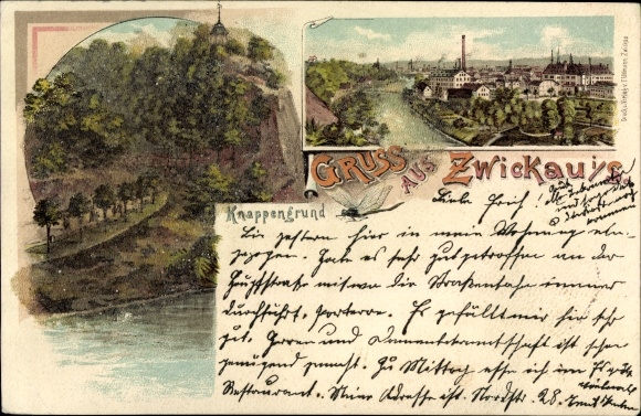 Perl Litho Zwickau in Sachsen, Knappengrund, Panorama 0