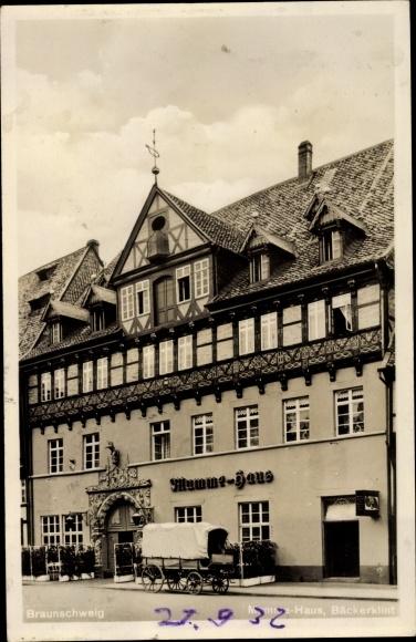Ak Braunschweig in Niedersachsen, Mymme Haus, Bäckerklint 0