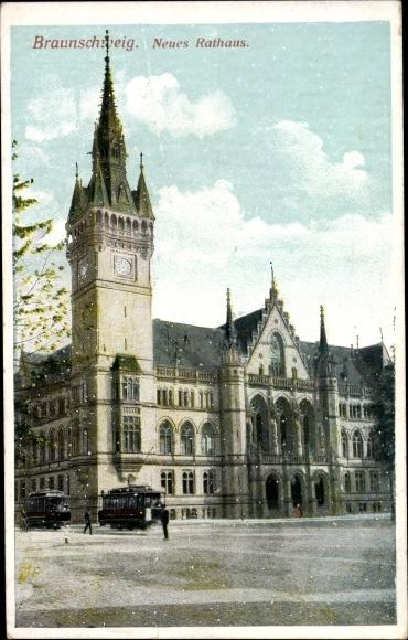 Ak Braunschweig in Niedersachsen, Neues Rathaus 0
