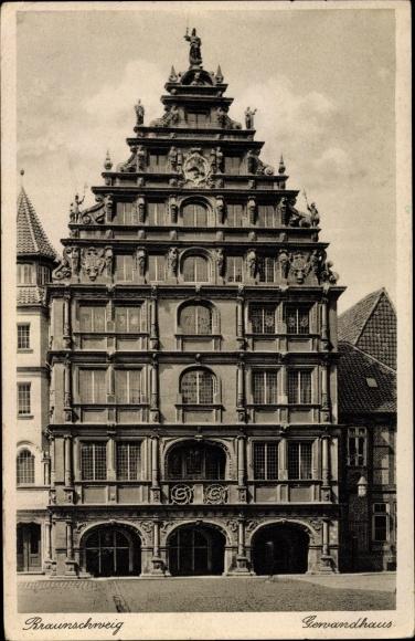 Ak Braunschweig in Niedersachsen, Gewandhaus 0