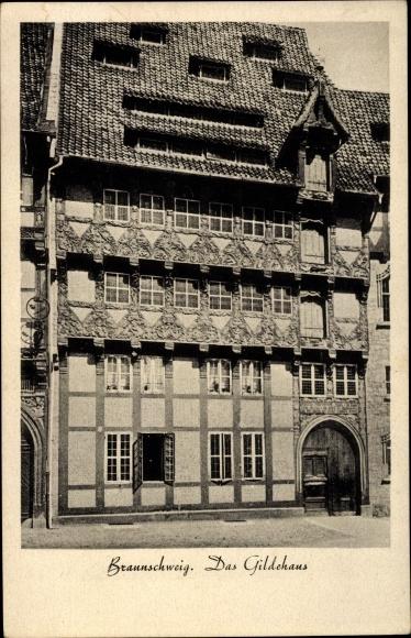 Ak Braunschweig in Niedersachsen, Gildehaus 0
