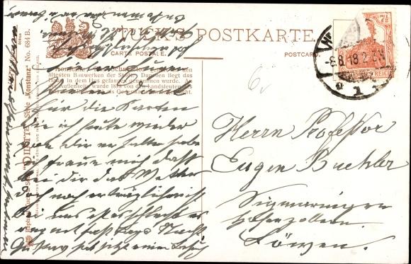 Künstler Ak Thomas, Paul, Konstanz am Bodensee, Passanten am Schnetztor, Tucks No. 684 B 1