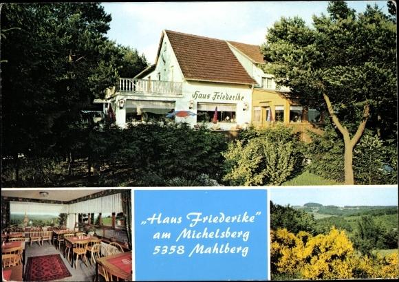 Ak Mahlberg Bad Münstereifel in Nordrhein Westfalen, Haus Friederike, Cafe, Restaurant 0