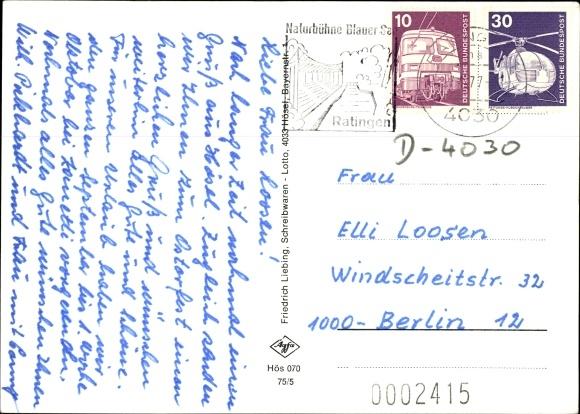 Ak Hösel Ratingen Nordrhein Westfalen, Fliegeraufnahme, Erholungsheim, Ev. Kirche, Kath. Kirche 1
