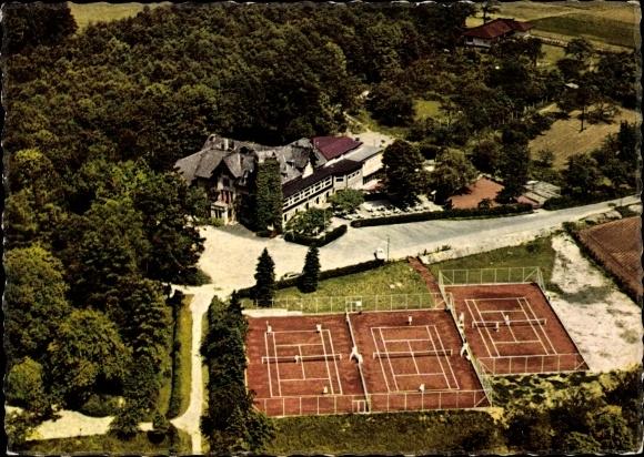 Ak Lage in Lippe, Berghotel Wilhelmsburg, Tennisplätze 0