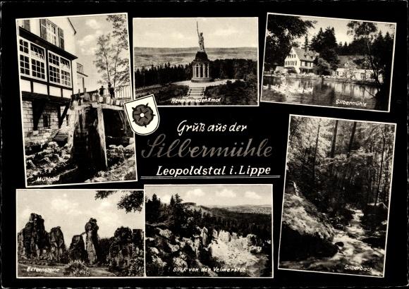 Ak Leopoldstal Horn Bad Meinberg, Waldhotel und Pension Silbermühle 0