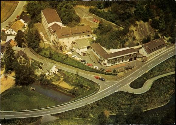 Ak Lohmar in Nordrhein Westfalen, Castell Haus Steineck, Fliegeraufnahme 0
