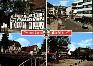 Ak Geisweid Siegen in Nordrhein Westfalen, Fachwerkhäuser, Straßenpartie