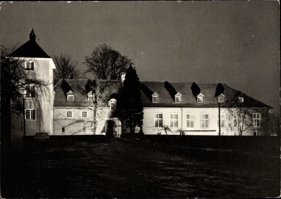 Ak Rieste Bersenbrück Niedersachsen, Gastliches Ritterhaus Kommende Lage, Außenansicht 0