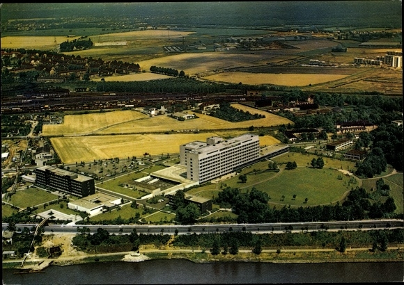 Ak Porz Köln am Rhein, Fliegeraufnahme, Krankenhaus 0