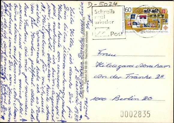 Ak Pulheim Nordrhein Westfalen, Rathaus, Gymnasium, Kirche, Kindergarten, Schwimmbad, Wappen 1