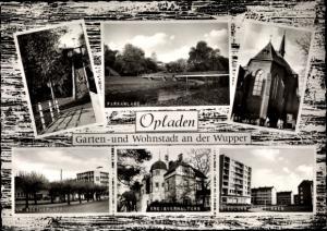 Ak Opladen Leverkusen im Rheinland, Himmelsleiter, Parkanlage, Kreisverwaltung, Am Goetheplatz