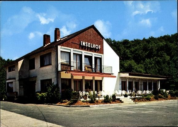 Ak Alefeld Much Westfalen, Hotel Restaurant Inselhof, Elisabeth Hänscheid, Außenansicht 0