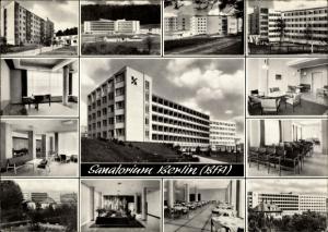 Ak Bad Driburg in Westfalen, Sanatorium Berlin BfA, Speisesaal, Gästezimmer, Außenansicht