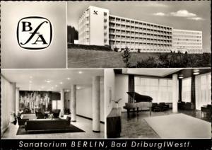 Ak Bad Driburg in Westfalen, Sanatorium Berlin BfA, Außenansicht