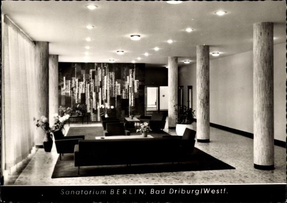 Ak Bad Driburg in Westfalen, Sanatorium Berlin BfA, Innenansicht 0