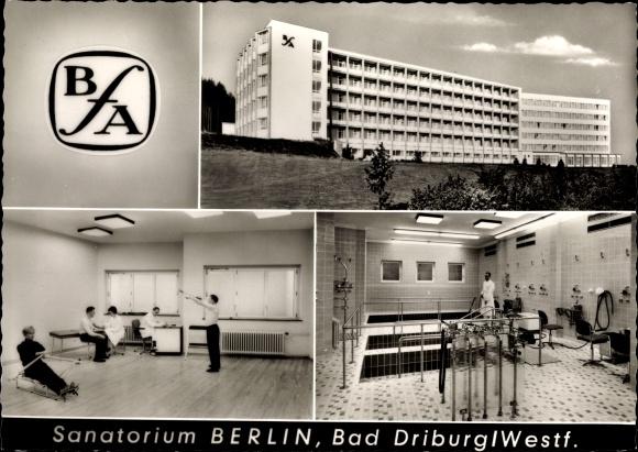 Ak Bad Driburg in Westfalen, Sanatorium Berlin BfA, Außenansicht 0