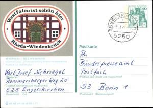 Ganzsachen Ak Rheda Wiedenbrück in Westfalen, Stadtverwaltung
